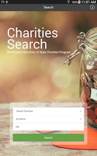WA State Charities Search- screenshot thumbnail