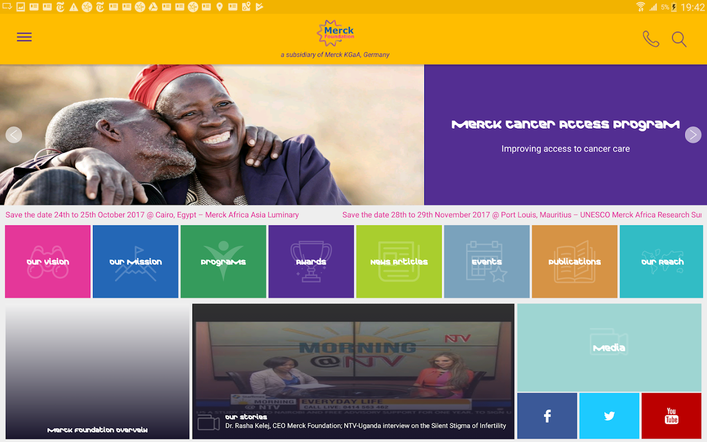 Merck Foundation- screenshot