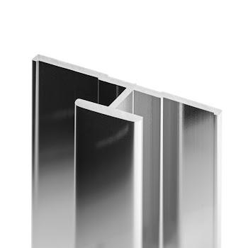 DecoDesign - Zubehör Profil - Flächenverbinder - Chromoptik (41), Länge 2550 mm