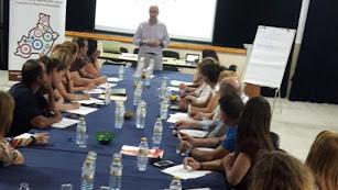 Empresarios durante el taller impartido por Manuel Martínez.