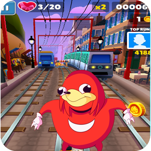 Ugandan knuckles subway  run