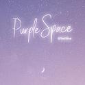 [임샤인] 퍼플 우주 달 카카오톡 테마 (purple space moon) icon