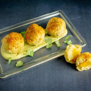 Butternut Squash Arepa Bites | Creamy Hatch Chile Dip