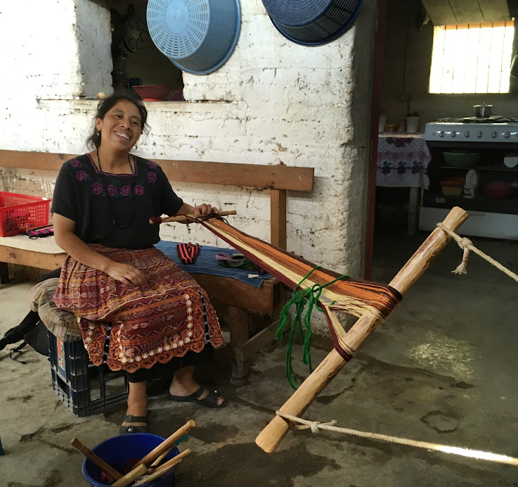Tomaso, my weaving instructor. This is also her house.