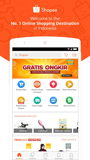 Shopee: No.1 Belanja Online app (apk) free download for Android/PC/Windows screenshot