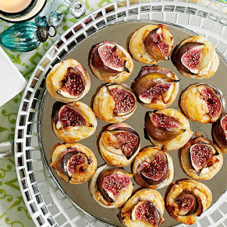 Fig and Goat's Cheese Puffs.