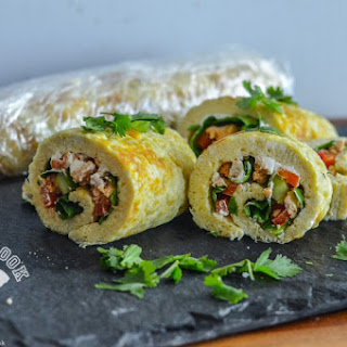 Turkey & Veggie Omelette Rolls