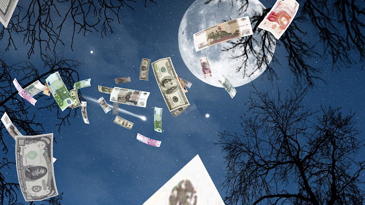 Falling Money 3D Wallpaper PRO