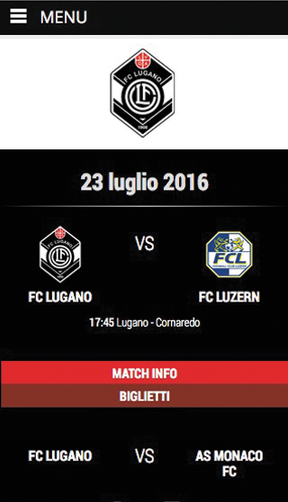 FC Lugano 1908- screenshot