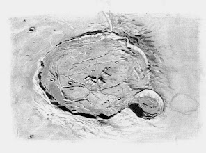 Photo: La cratère Gassendi (diamètre de 110km) observé le 16 mars 2011 au 12ème jour de lunaison. Images très correctes, T406 à 350X en bino. Le terminateur était à 15° de là.