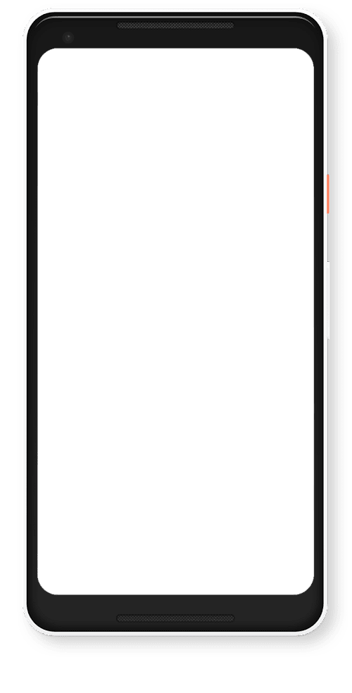 Animated illustration of an Android device
