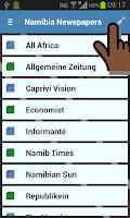 Screenshot of Namibia Newspapers