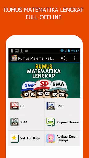 Rumus Matematika SD SMP SMA screenshot