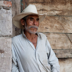 The Farmer by Anne Marie Hickey - People Portraits of Men