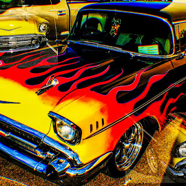 Hot Rod Chevy by Dave Walters - Transportation Automobiles ( painted, hot rods, lumix fz2500, 57 chevy wagon, transportation )