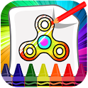 Fidget Spinner Coloring icon