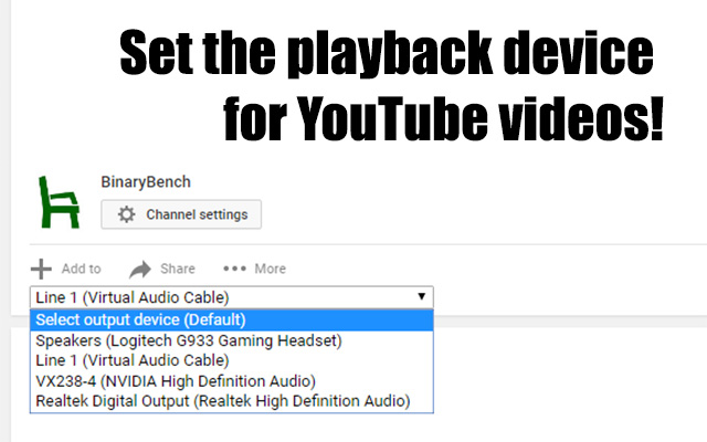 Youtube Output Devices
