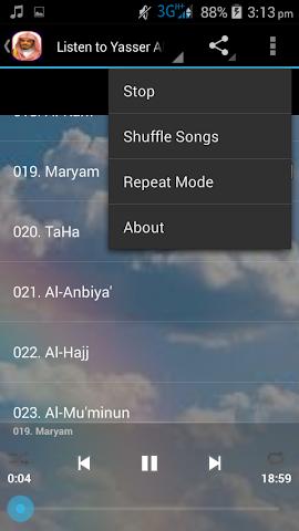 android Aloyoon Al-Koshi Quran MP3 Screenshot 7