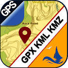 GPX KML KMZ Viewer on gps map icon