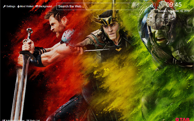 Thor Ragnarok Wallpaper for New Tab