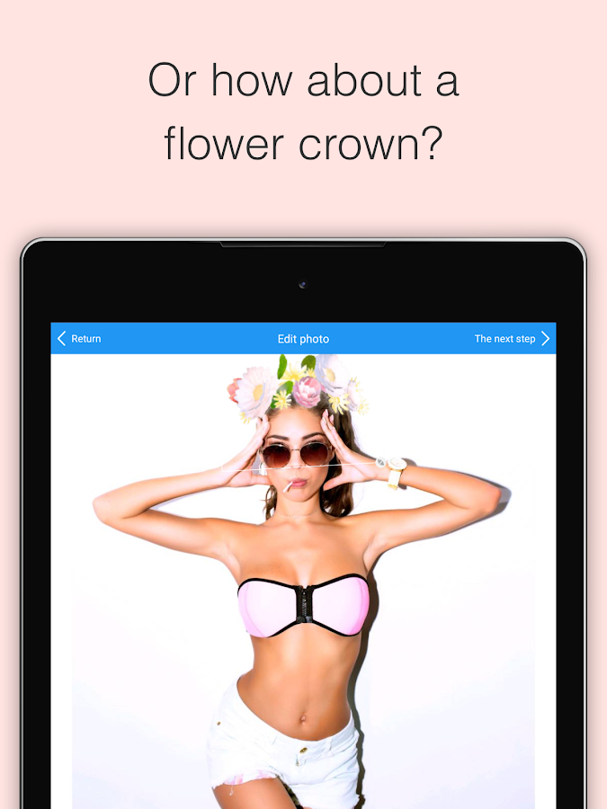 Photo Booth Heart Effect / Flower Crown - Crownify- screenshot