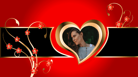 Lovely Heart GIF Photo Frame Editor - náhled