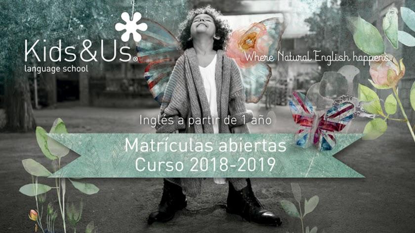 La academia de inglés para niños Kids&Us Almería abre período de matriculación