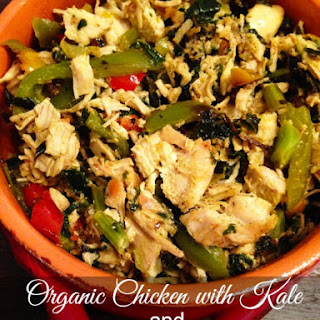 Organic Chicken with Kale and Tri Color Peppers