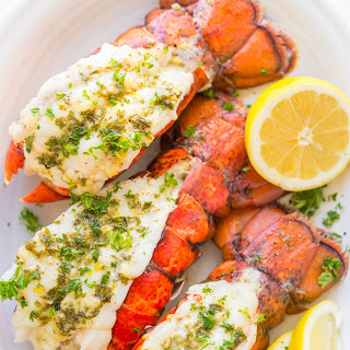 Lobster Tails Recipe with Garlic Lemon Butter.