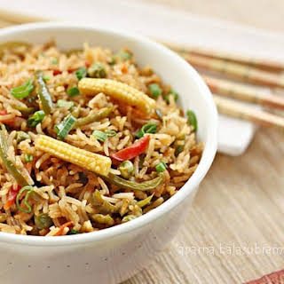Indian Style Chinese Vegetable Fried Rice.
