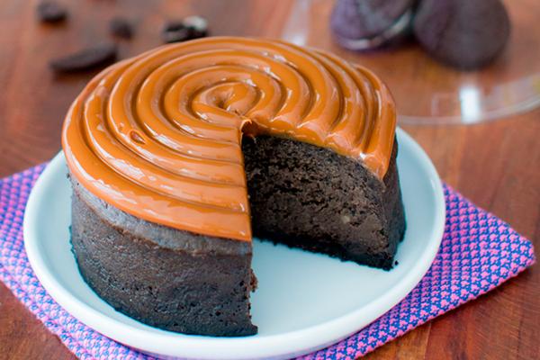 Cheesecake de Oreo com Doce de Leite