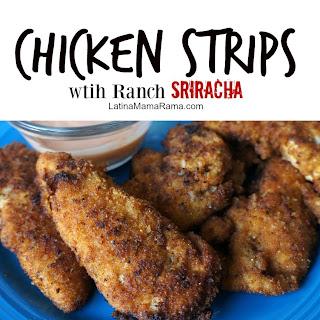 Sriracha Chicken Strips Con Leche
