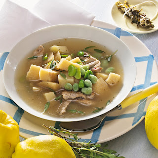 Dicke-Bohnen-Suppe mit Quitten