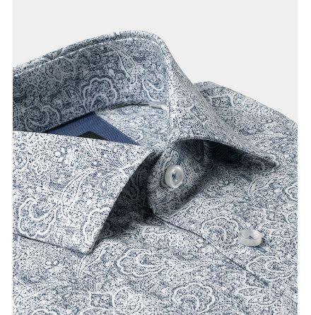 SKJORTA MED STILFULL PAISLEY -  REGULAR CUT