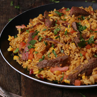 Mexican Steak & Salsa Rice.