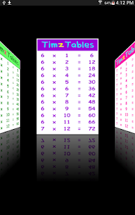 TimzTables 12 Times Tables- screenshot thumbnail