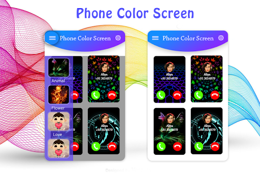 Color Phone Call Flash Screen screenshots 2