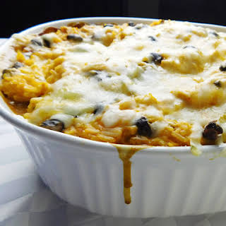 Mexican Rice & Black Bean Casserole (With Chicken).