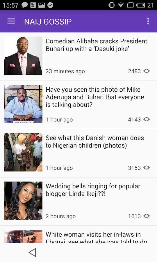 NAIJ.com Gossip- screenshot
