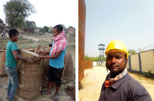"Anil (Left) said he tries to work as a potter and find work as an agricultural labourer every day. Prem (Right) said, ""I was the only one who could go outside and earn. Being able to work outside was a support for my family."". Left: Courtesy Anil kumar; Right: Courtesy prem kumar"