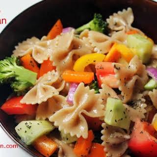 Colors of the Rainbow Pasta Salad.