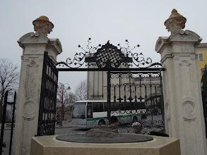 Photo: Kilátóerkély az apátság bejáratával szemben