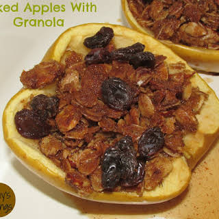 Baked Apples With Granola.