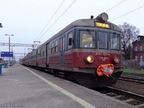 Photo: EN57-087, Poznań Główny - Toruń Główny {Toruń Główny; 2014-01-14}