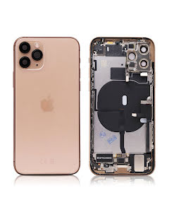 iPhone 11 Pro Housing with small parts Original Pulled Gold