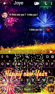 2018 New Year Sparkling Fireworks Keyboard Theme - náhled