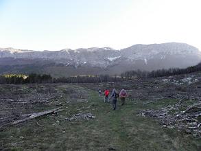 Photo: Prva planinarska tura započinje preko zgarišta koje se sad započelo čistiti