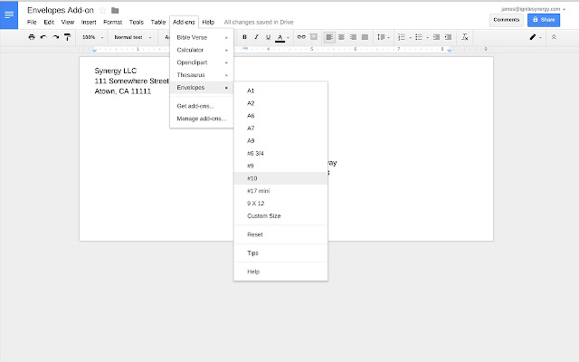 Envelopes google docs add on pronofoot35fo Choice Image