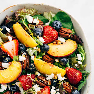 Summer Fruit Salad with Peach Poppy Seed Dressing