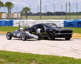 Photo: 8 w Mustang (Roger Beasley racing in SCCA vintage class at Sebring) 2002 by unknown